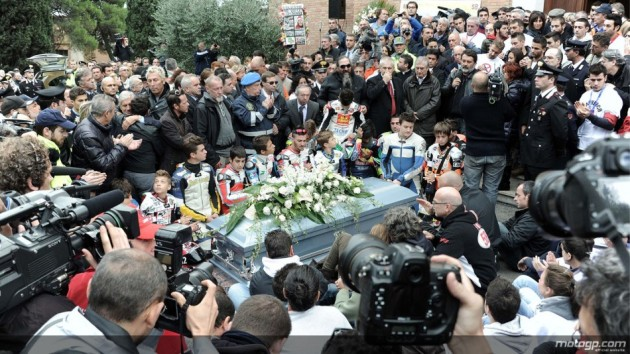 Marco Simoncelli - Funeral Ceremony