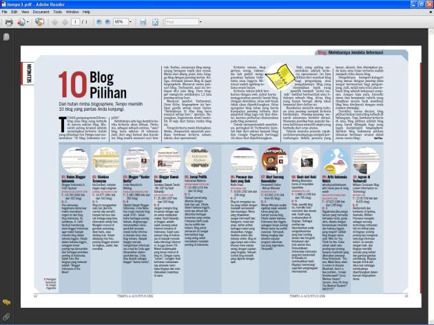 Kami Dari Semua - Indonesian Top Ten Blogger on Kompas
